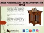 Amish Furniture and the Mission Furniture Style