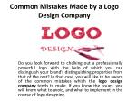 Common Mistakes Made by a Logo Design Company
