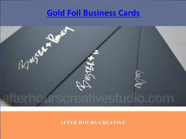 gold foil business cards n.