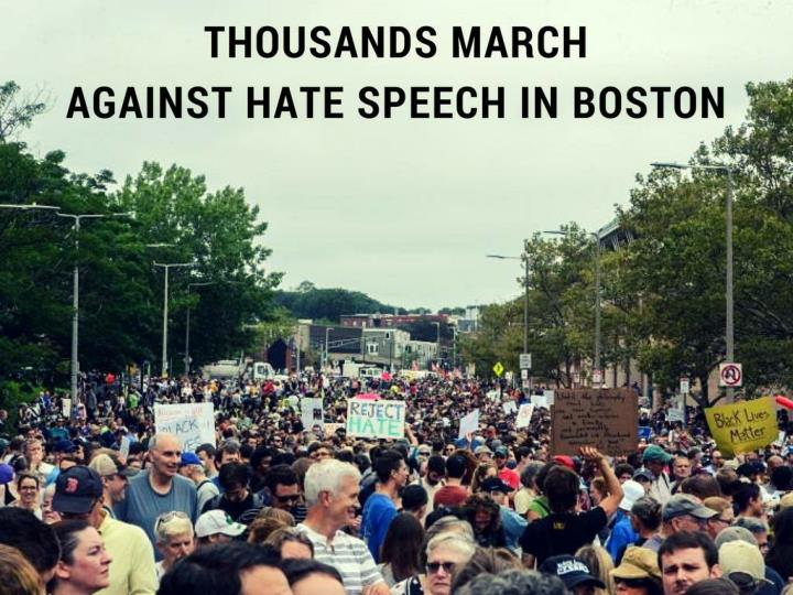 thousands march against hate speech in boston n.