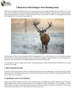 5 Reasons to Get Going on Your Hunting Lease