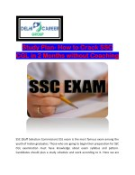 Study Plan- How to Crack SSC CGL in 2 Months without Coaching