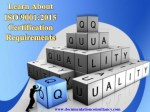 Information about ISO 9001 Quality Management System