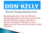 Physical Therapy Specialist Cork