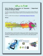 Web Hosting Companies in Tanzania – Important Points to Keep In Mind