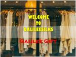 Best design of Galilee Gift available at galileesilks
