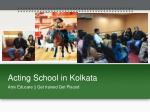 Acting School in Kolkata