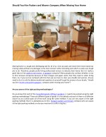 Should You Hire Packers and Movers Company When Moving Your Home