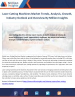 Laser Cutting Machines Market Applications, Types and Market Analysis to 2021