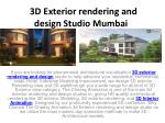 3D Exterior Rendering Visualization House Wall Design Studio
