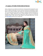 A Legacy of Indian Embroidered Sarees