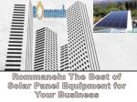 Rommaneh: The Best of Solar Panel Equipment for Your Business