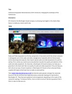 Conference Equipment Rental Services of AV Universal is changing the Landscape of the Conferences