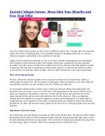 Zarrah Collagen Serum: Boost Skin Tone |Benefits and Free Trial Offer