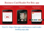 Bric app - Free Business card scanner & manager