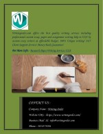 Affordable Research Paper Writing Service in USA