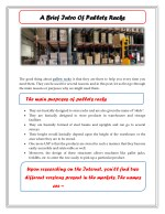 A Brief Intro Of Pallets Racks