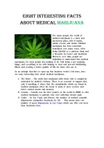 Eight Interesting Facts about Medical Marijuana