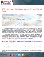 China's Heaters Market Consumer Income Trends Report