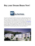 Buy your Dream House Now