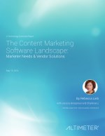 The Content Marketing Software Landscape: Marketer Needs & Vendor Solutions