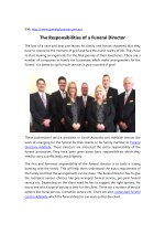 What are the Responsibilities of a Funeral Home Director?