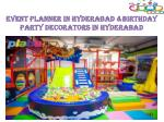 kids play area in Hyderabad| Kids Birthday party venues