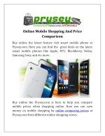 Online Mobile Shopping With Price Comparison | Prysey.com