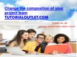 Change the composition of your project team