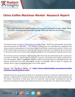 China Coffee Machines Market- Research Report