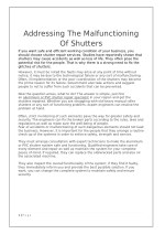 Addressing The Malfunctioning Of Shutters