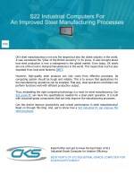 S22 Industrial Computers for an Improved Steel Manufacturing Processes