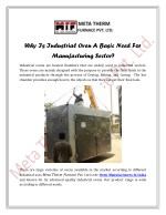 Why Is Industrial Oven A Basic Need For Manufacturing Sector?