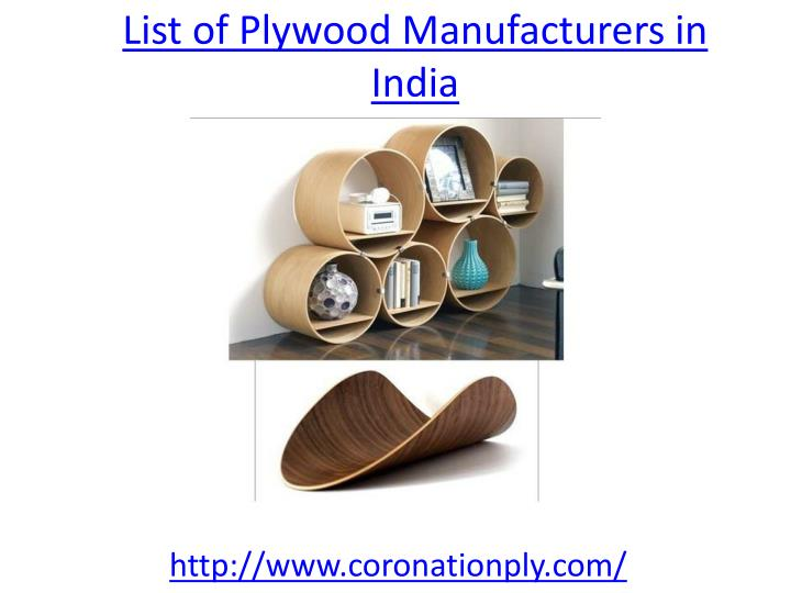 list of plywood manufacturers in india n.