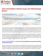 China Humidifiers Market Scope And Methodology Report
