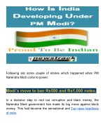 How is India developing under PM Modi?