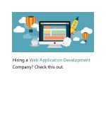 Hiring Web Application Development Company?