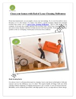 End of lease cleaning melbourne, brisbane, sydney