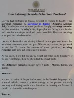 How Astrology Remedies Solve Your Problems - AstrologyRays