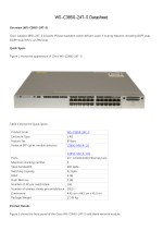 Cisco Catalyst 3850-24T-S Datasheet