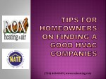 Tips for Finding a Good HVAC Company