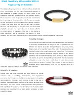 Steel Jewellery Wholesaler With A Huge Array Of Choices