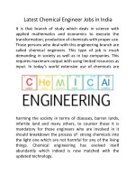 Latest Chemical Engineer Jobs in India