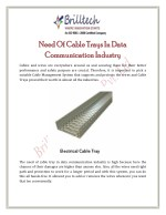 Need Of Cable Trays In Data Communication Industry