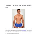 Feeling blue? - Jazz up your assets with Pistol Pete boxer brief