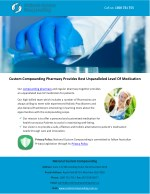 Custom Compounding Pharmacy Provides Best Unparalleled Level Of Medication