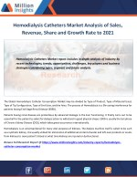 Hemodialysis Catheters Market Trends, Analysis, Growth, Industry Outlook and Overview By Million Insights