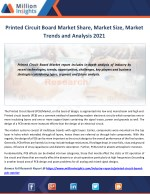 Printed Circuit Board Market to 2021 Industry Size, Share, Revenue Analysis
