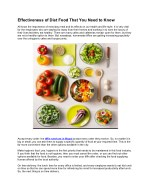 Effectiveness of Diet Food That You Need to Know