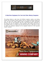 5 Must-Have Equipment For Coal And Other Mining Companies